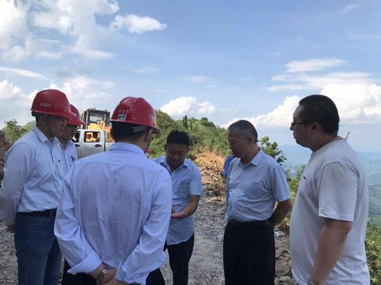 王守学到广西三江风电项目、
