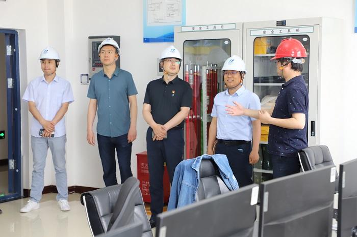 马国青陪同河南公司相关人员